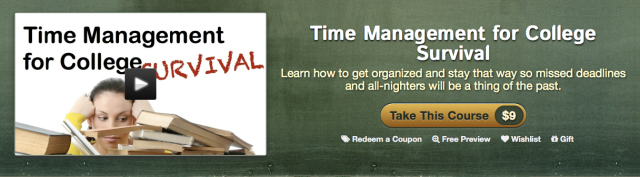Time Management for Students Online Course